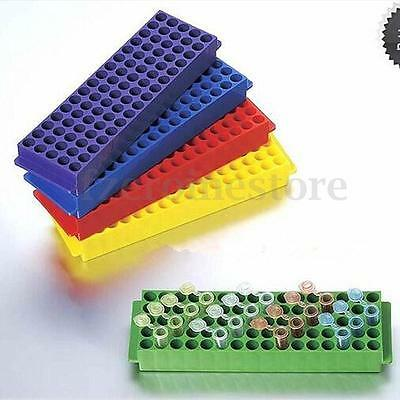 2 Side Plastic 60/80 Hole Positions Test Tube Stand Bracket Rack 0.2ml/1.5ml/2ml