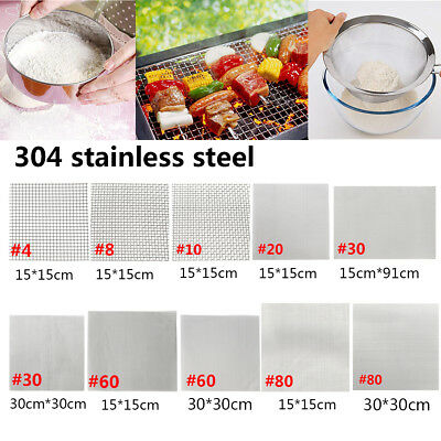 304 Wire Cloth Screen Stainless Steel Filter Woven Wire Mesh 4/8/10/20/30/60/80