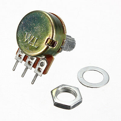 2Pcs 1/5/10/20/50/100/250/500 K/M ohm Potentiometers Single Linear Potentiometer