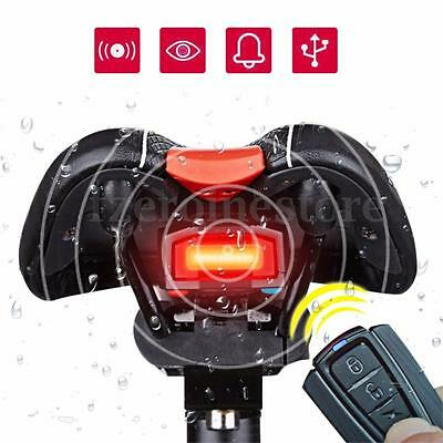 3 in 1 Bicycle Rear Light Wireless Alarm Bell Remote Control Lock Fixed Position
