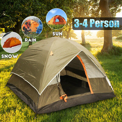Trip 4 Person Camping Tent Double-layer Strong Waterproof Family Outdoor Hiking