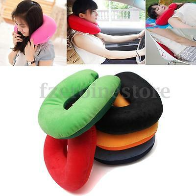 Comfort Microbead Travel Neck Pillow Cushion Sleep Support Car Home Plane