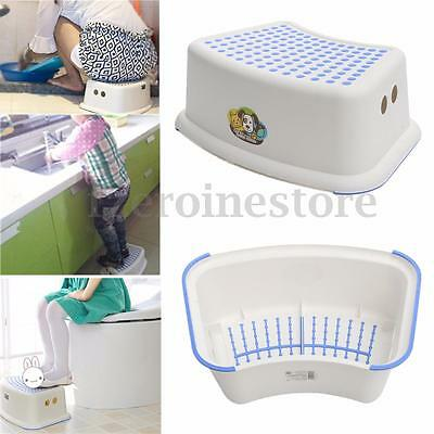 Plastic Toddler Toilet Potty Training Seat Step Stool For Kid Children Anti-Slip
