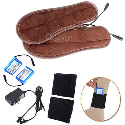 Rechargeable Battery Heated Insoles Foot Warmer(Battery + Socks Holder Included)