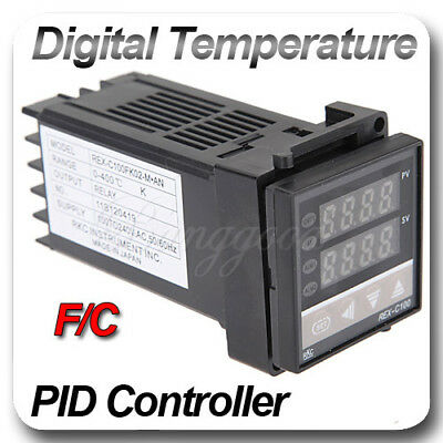 REX-C100 Dual PID C 400°C Digital Temperature Control Controller Thermocouple