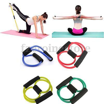 Resistance Training Bands Rope Tube Workout Stretch Elastic Exercise For Yoga