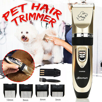 Pet Dog Clipper Grooming Trimmer Animal Hair Professional Electric Shaver Kit UK
