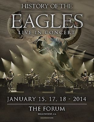 """Eagles """"history Of The Eagles 2014 Tour At The Forum""""los Angeles Concert Poster"""
