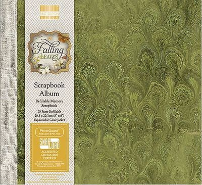 "Fallen Leaves First Edition Scrapbook Memory Photo Album - 8"" x 8"" - Free Post"
