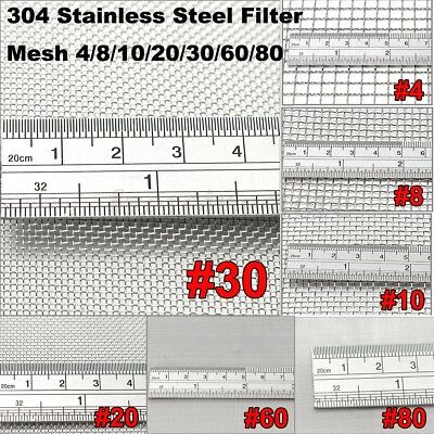 MEGA MESH LISTING -304 Wire Cloth Screen Stainless Steel Filter Woven Wire Mesh