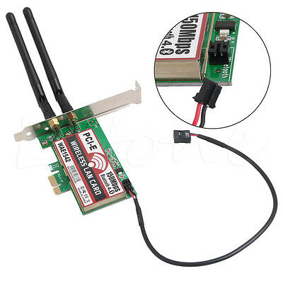150M Wireless PCI-E PCI Express Card WIFI Network LAN Ethernet NIC Bluetooth 4.0