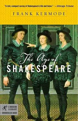 The Age of Shakespeare by Frank Kermode (English) Paperback Book Free Shipping!