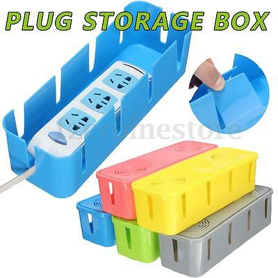 Home DIY Office  Anti-dust Cable Storage Box Tidy Wire Cord Management Organiser