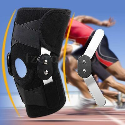 Hinged Knee Support Guard Adjustable Strap Neoprene Pain Relief Brace Patella