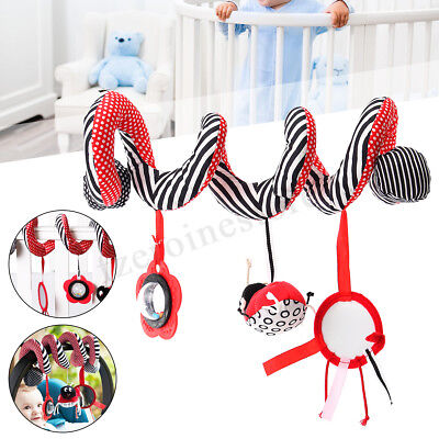 Kid Baby Mobile Crib Music Toy Baby Cot Pram Ringing Bed Bell Spiral Rattles