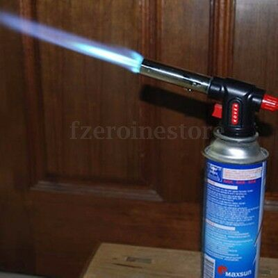 Flamethrower Burner Butane Gas Blow Torch Auto Ignition Camping Welding Tool BBQ