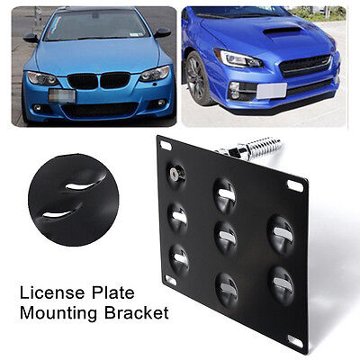 Front Bumper Tow Hook License Plate Mounting Bracket Holder For Volkswagen/Audi