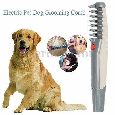 Electric Pet Dog Puppy Grooming Flea Comb Knot Tangles Hair Trimmer Shaver