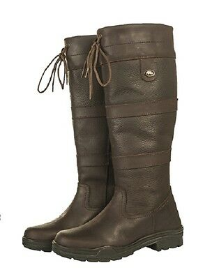 CLEARANCE HKM Belmond Leather Country Horse Riding Boots | WIDE CALF fit | UK 6