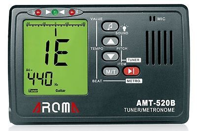 Aroma Metronome & Tuner For Chromatic,Guitar,Bass & Violin New
