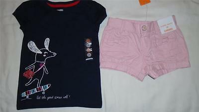NEW Girls Size 2T Gymboree Outfit Pink Bubble Shorts & Dog Shirt Summer $41 NWT