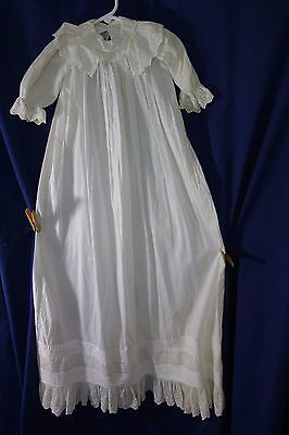 """Victorian Christening Gown-42"""" Long- Eyelet Ruffles,Lots of Tucking-LOVELY- SALE"""