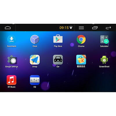 """Android 5.1 Single 2 Din 7"""" GPS Flip Car Stereo Radio Player Touch Screen USB SD"""
