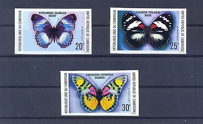 Cameroon 1978 8utterflies imperforated. VF and Rare