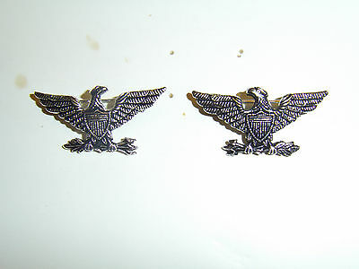 b8816p WW 1 US Army Colonel Eagle and Arrows Silver left and right pair IR30B