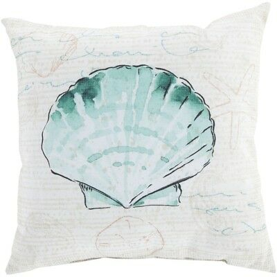 "Rain by Surya Poly Fill Pillow, Mint/Beige/Black, 18"" x 18"" - RG131-1818"