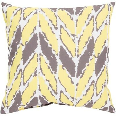 """Rain by Surya Poly Fill Pillow, Ivory/Butter, 18"""" x 18"""" - RG173-1818"""