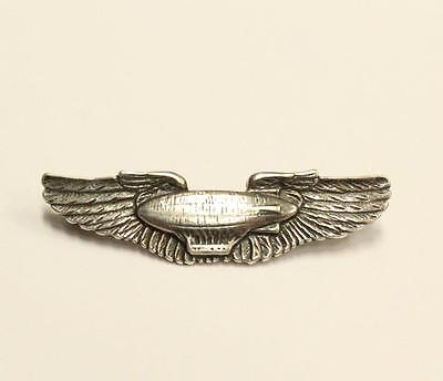 USAAF Zeppellin Pilot .925 silver pin N.S.Meyer NY  1.5 inch 3.6 grams original