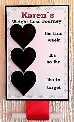 Personalised Weight Loss Chalk Board Plaque Slimming World-Weight Watchers ❤❤❤❤❤