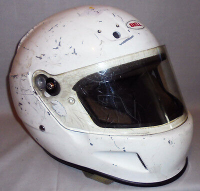 Real -NASCAR- BELL BR-1 Racing Helmet with HANS from Dale Jarrett - Size Large