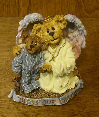 Boyds Bearstone #228361 Hope Angelwish & Everychild...Bless Our Children, NIB