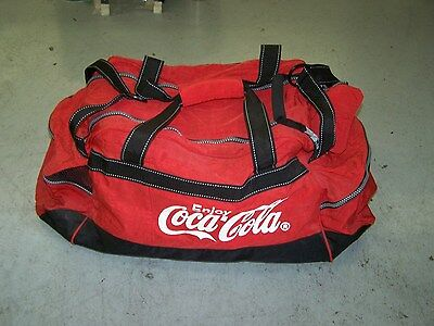 COCA COLA LARGE DUFFLE BAG CLOSEOUT PRICED + free coke christmas ornament gift