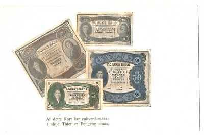 Norway Norwegian Banknotes Ad PC ca. 1902 RARE