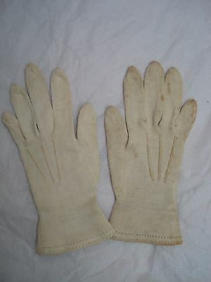 Antique Vintage Tiny Child's Girl's Cotton Gloves - Doll Display?