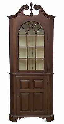 SWC-Rare Narrow Early Chippendale Corner Cupboard, Pennsylvania, c.1740