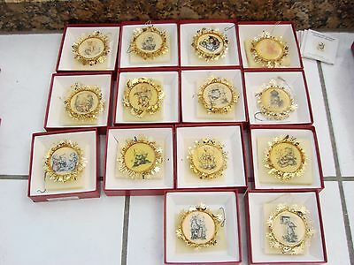 The Hummel Gold Christmas Ornaments Collection 14 Ornaments w/ box