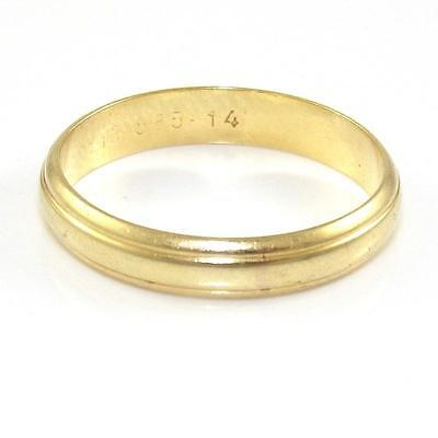 Solid 14K Yellow Gold Men's Wedding Band Ring Size 8.5 ZQ2