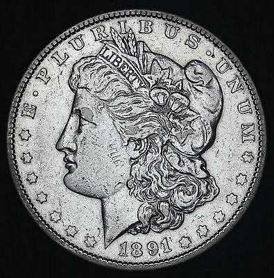 1891-P U.S. Morgan Silver $1 One Dollar Coin - NICE QUALITY