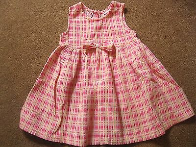 Cute toddler girl Lord & Taylor pink yellow sleeveless summer dress, size 3T