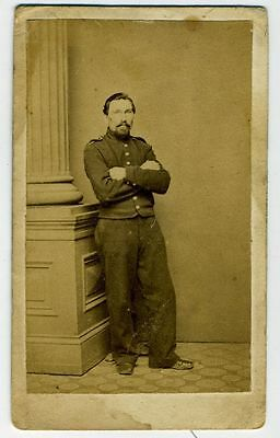 Cdv- Civil War – Union  Soldier – Short Shell Jacket