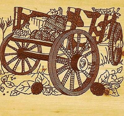 Wagons Redwork 2 Styles In 10 Machine Embroidery Designs Cd