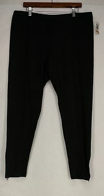 Style & Co Plus Size Pants 3X Studded Zip-Cuff Leg Charcoal Gray NEW
