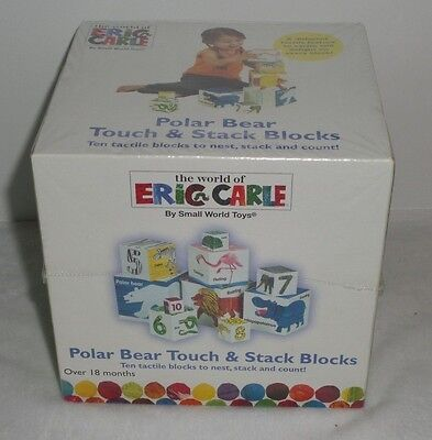 The World Of Eric Carle Polar Bear Touch & Stack Blocks New Nesting Stacking