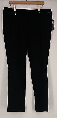 Alfani Plus Size Pants 16W Slim Fit Skinny Leg Black New