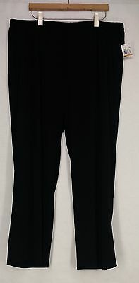 Michael Kors Plus Size Pants 3X Elastic Waist Wide Leg Black New