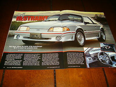 1988 Ford Mustang Gt Turbocharged ***original 2006 Article*** Buy It Now $11.95
